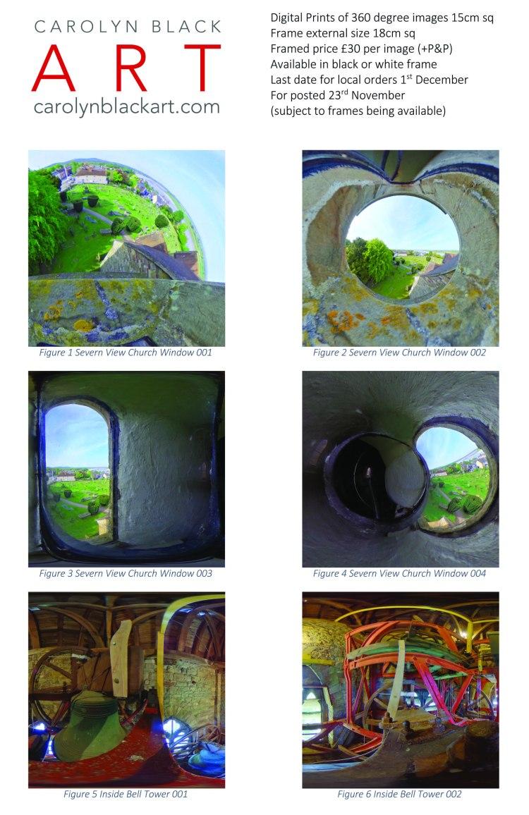 Carolyn Black Xmas Curch Tower Prints