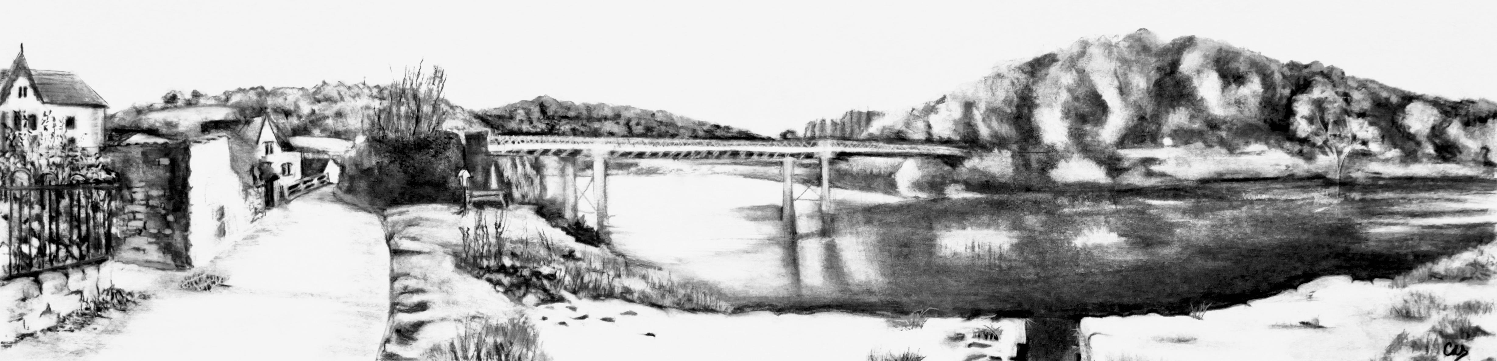 Brockweir Bridge Over The Wye