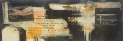 combination of etching, woodcuts, ink washes, text